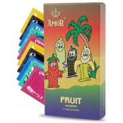 Ароматизированные презервативы AMOR Fruit  Яркая линия  - 10 шт.